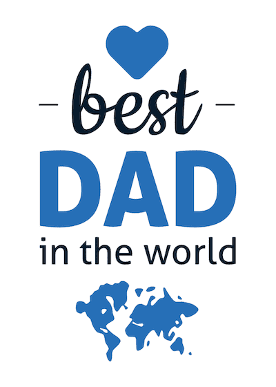 Printable Fathers Day Cards Best Dad World Map