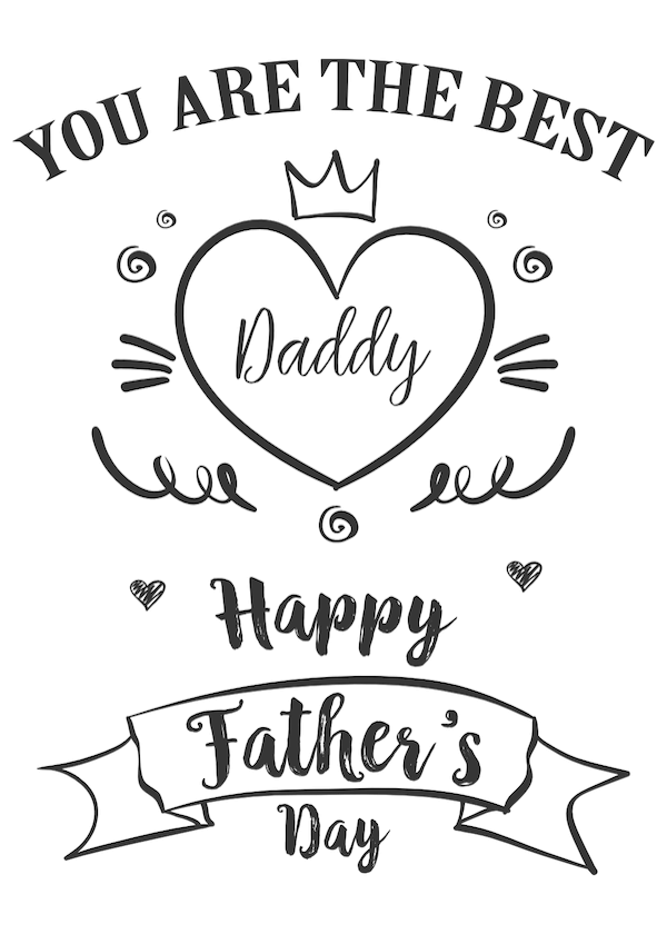 printable father's day cards - Best Daddy