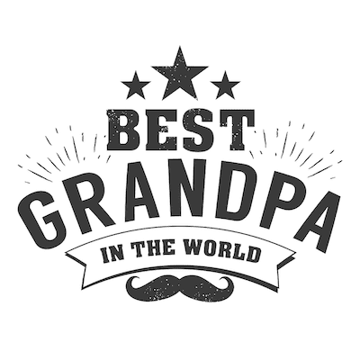 Printable Fathers Day Cards Best Grandpa Bw