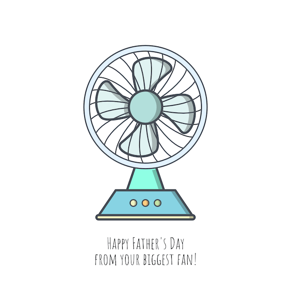 printable father's day cards - Biggest Fan