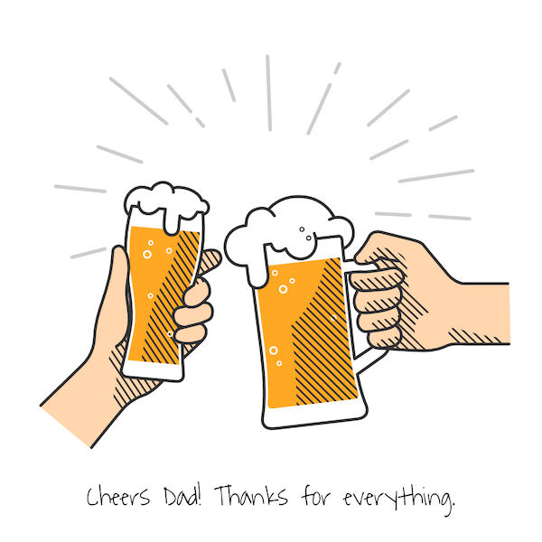 printable father's day cards - Cheers Dad