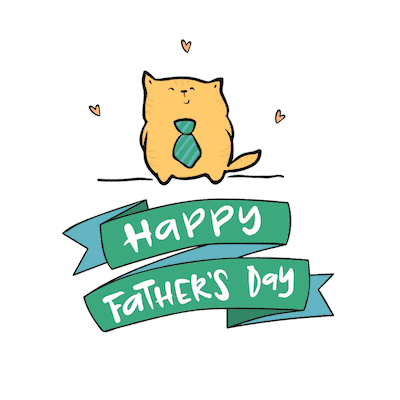 Printable Fathers Day Cards Cute Cat