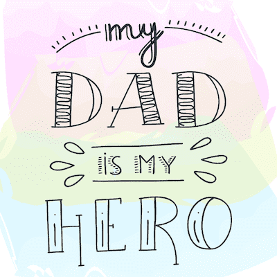 Printable Fathers Day Cards Dad Hero