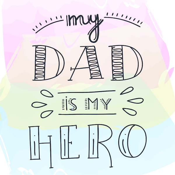 printable father's day cards - Dad is my Hero
