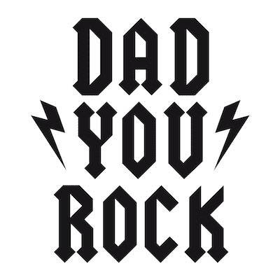 Printable Fathers Day Cards Dad You Rock