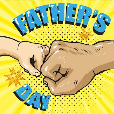 Printable Fathers Day Cards Fist Bump Comic