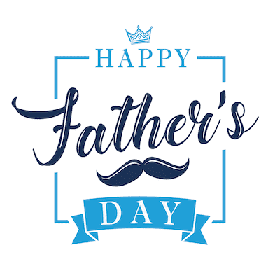 Printable Fathers Day Cards Happy Blue