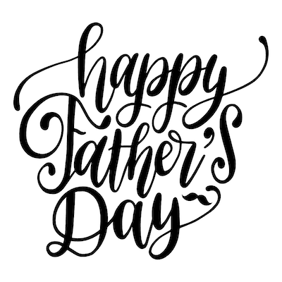 Printable Fathers Day Cards Happy Script
