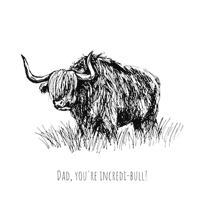 Printable Fathers Day Cards Incredible Bull