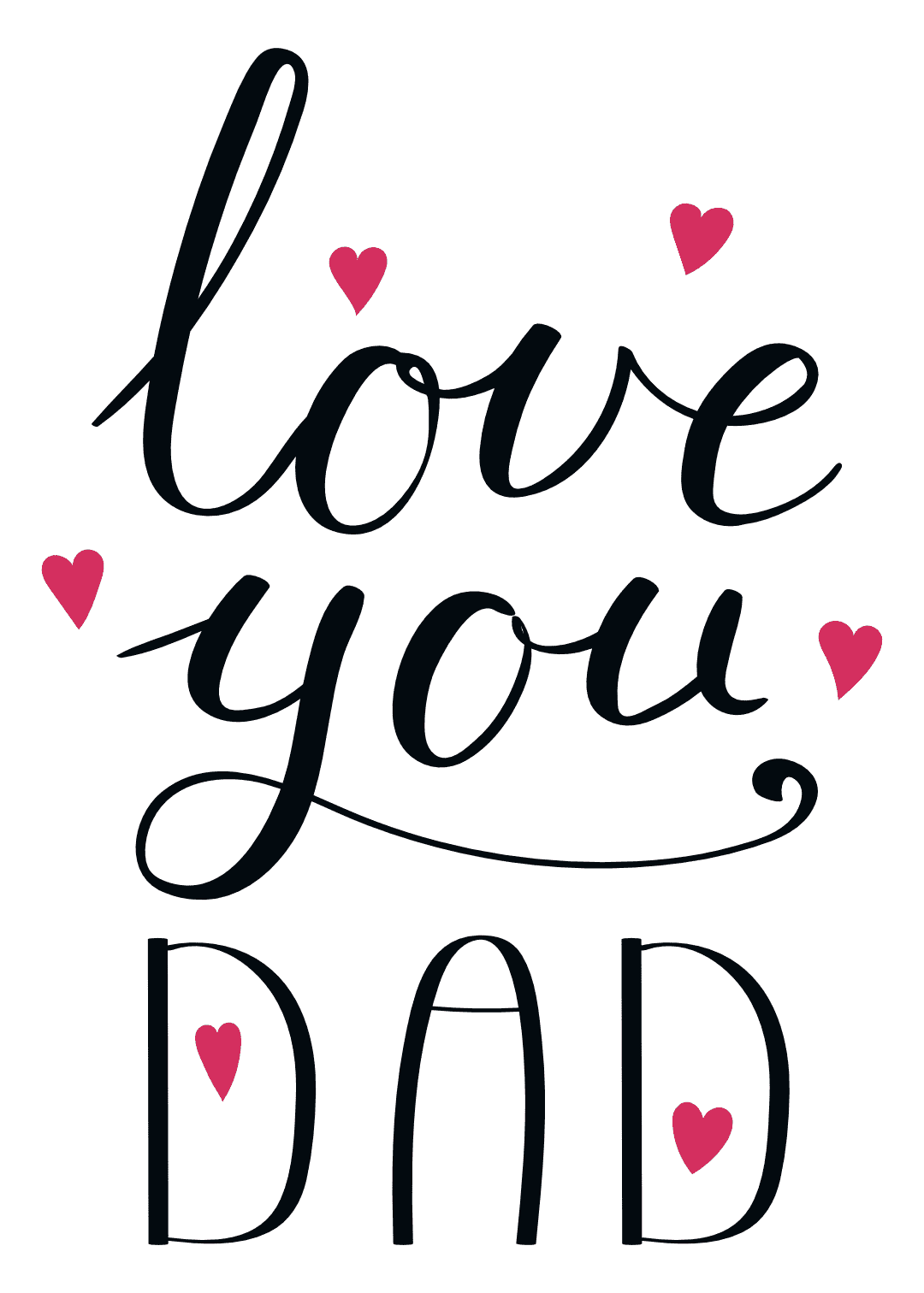 printable father's day cards - Love You Dad