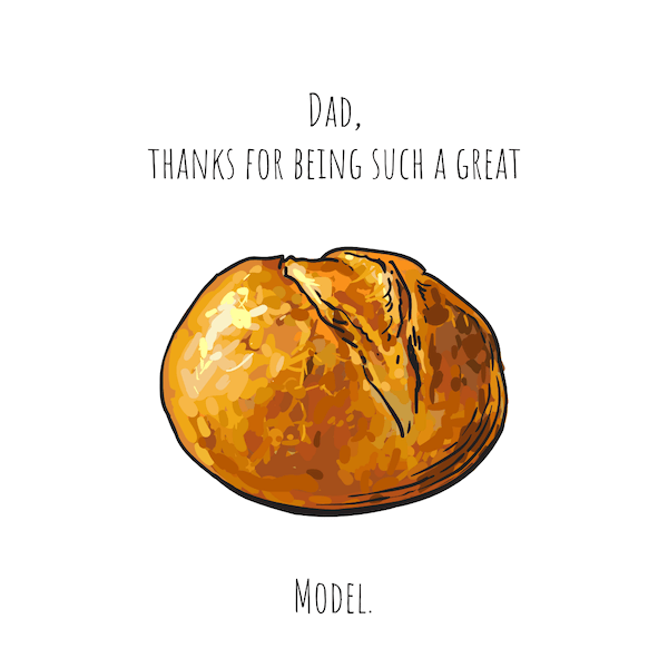 printable father's day cards - (Bread) Roll Model