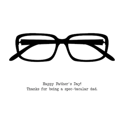 Printable Fathers Day Cards Spectacles Spectacular Dad