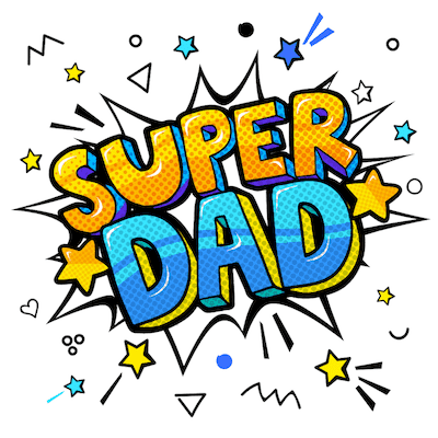 Printable Fathers Day Cards Super Dad Comic