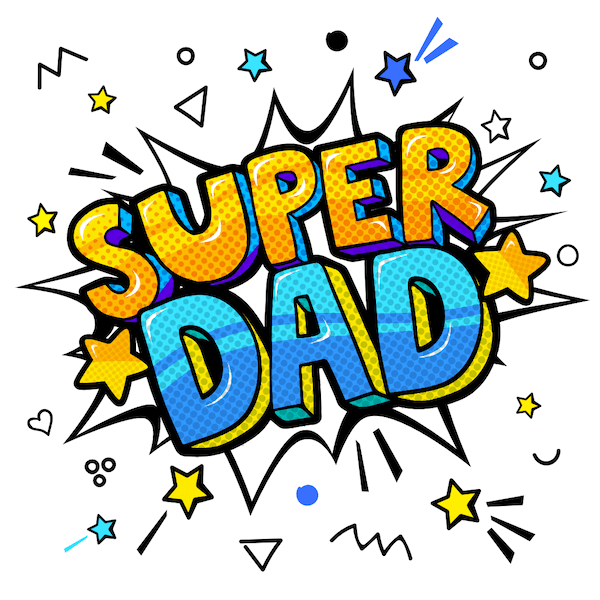 printable father's day cards - Super Dad