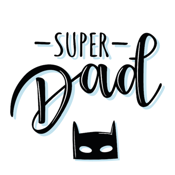 printable father's day cards - Super Dad (batman mask)