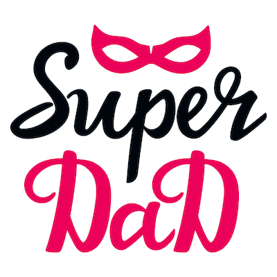 Printable Fathers Day Cards Super Dad Red Mask