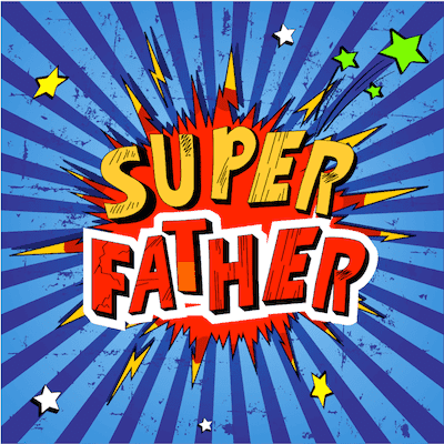 Printable Fathers Day Cards Super Father Comic