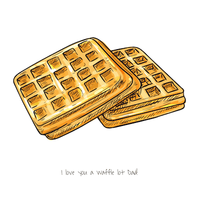 Printable Fathers Day Cards Waffle