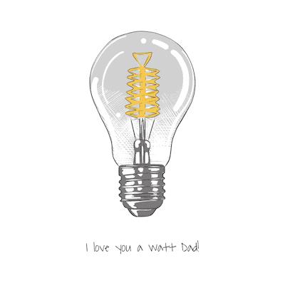 Printable Fathers Day Cards Watt Lightglobe