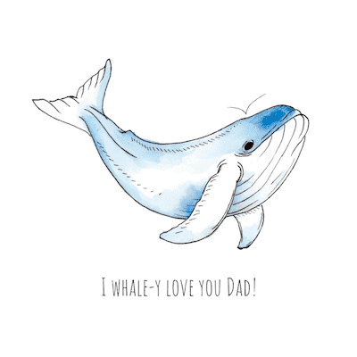 Printable Fathers Day Cards Whale Love