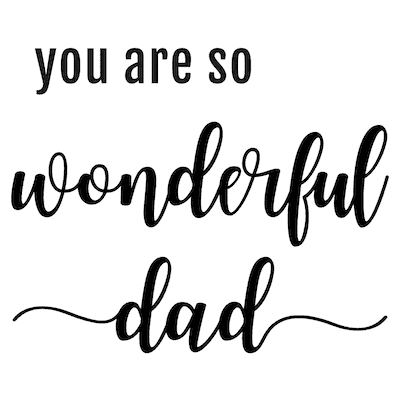 Printable Fathers Day Cards Wonderful Dad