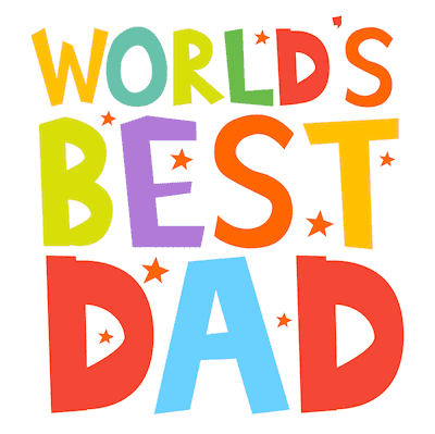 Printable Fathers Day Cards Worlds Best Dad Bright