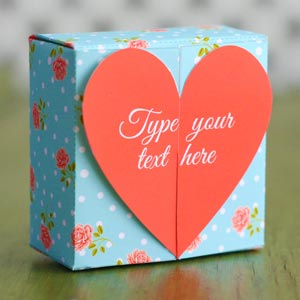 Homemade Valentine Gifts   Heart Box Template