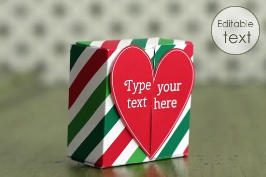 Free gift box templates to download print make printable gift bag with christmas stripes pattern negle Gallery