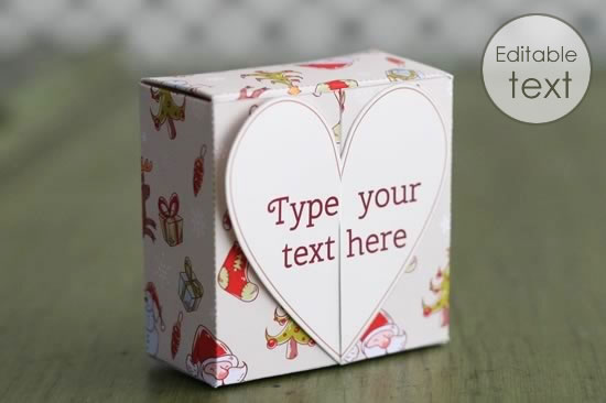 Free Gift Box Templates To Download Print  Make