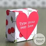 homemade valentine gifts - printable heart gift box