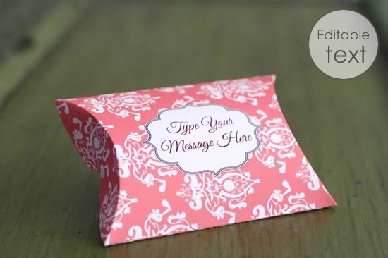 Effortless image inside printable gift box