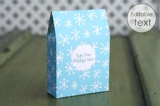 Printable Gift Bag Template Free Download