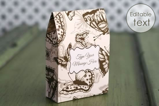 printable gift boxes - butterfly bag
