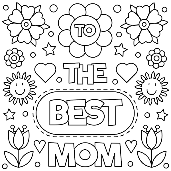 free printable mothers day cards - Best Mom Coloring