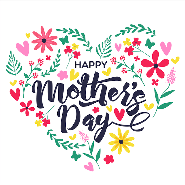 free printable mothers day cards - floral heart