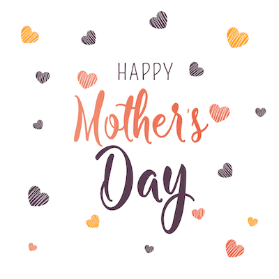 Printable Mothers Day Card 5x5 Hearts