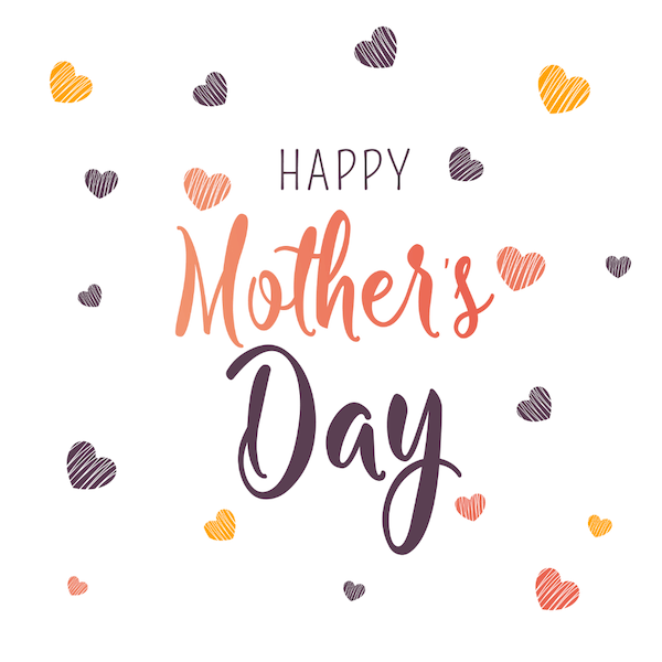 free printable mothers day cards - hearts background