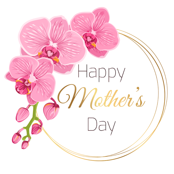 free printable mothers day cards - pink orchids