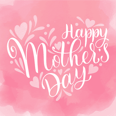 Printable Mothers Day Card 5x5 Pink Watercolor