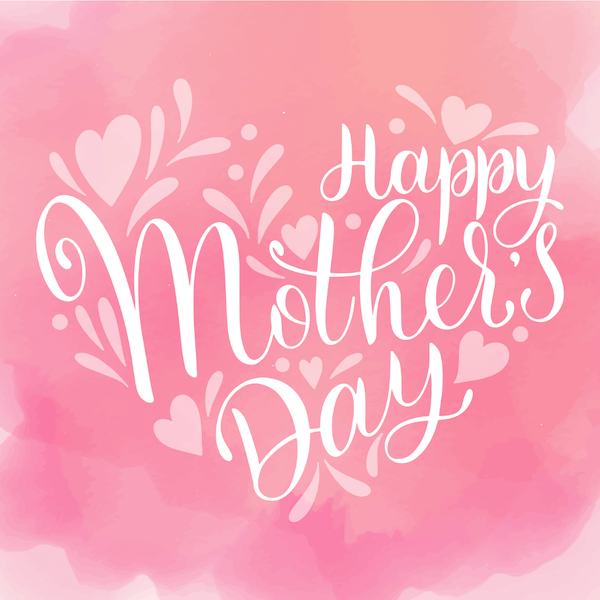 free printable mothers day cards - pink watercolor
