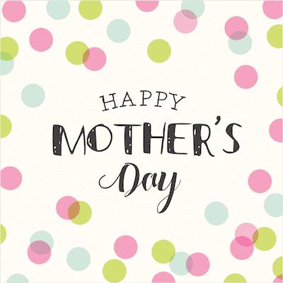 Printable Mothers Day Card 5x5 Polka Dots