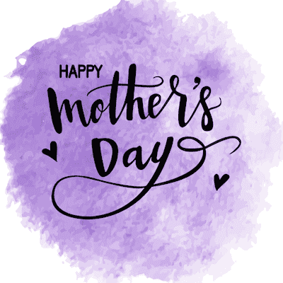 Printable Mothers Day Card 5x5 Purple Watercolor