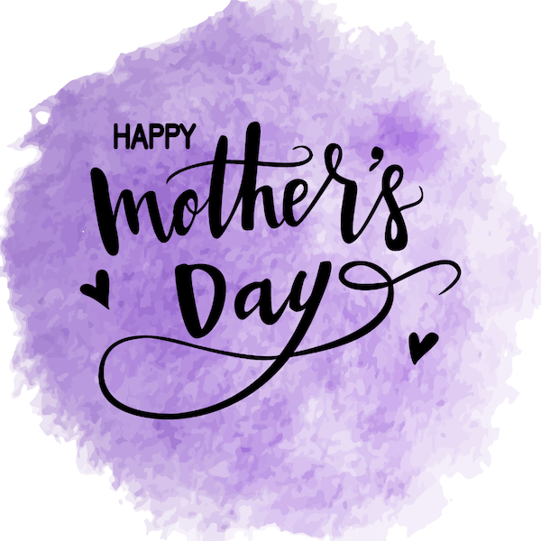 free printable mothers day cards - purple watercolor