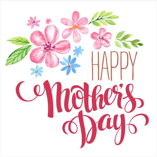 free printable mothers day cards - watercolor flowers