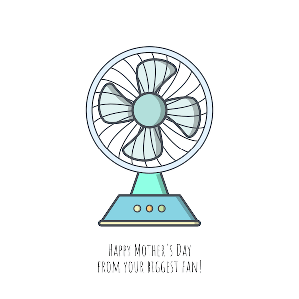 free printable mothers day cards - biggest fan