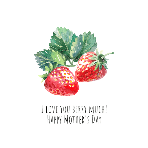 free printable mothers day cards - Love You Berry Much