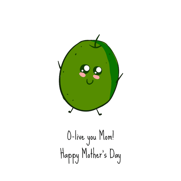 free printable mothers day cards - olive you
