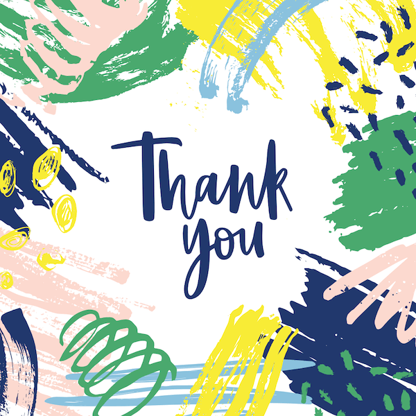 printable thank you cards - Abstract art