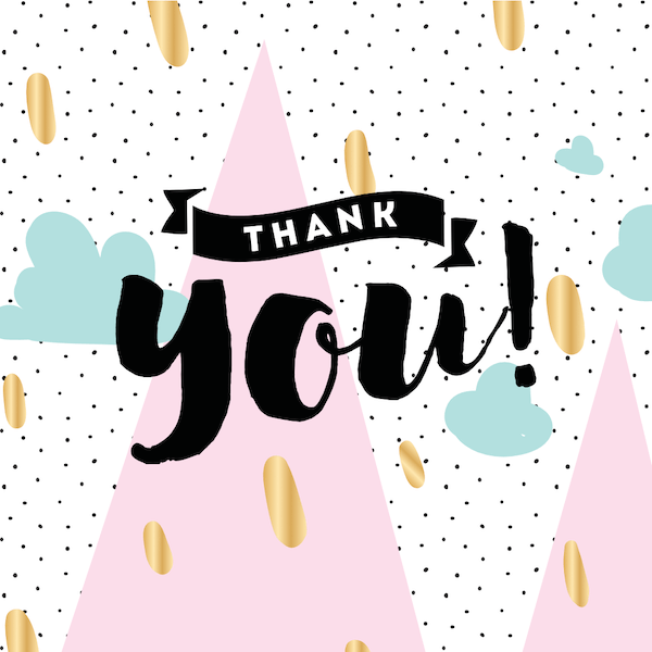 printable thank you cards - Abstract mountains