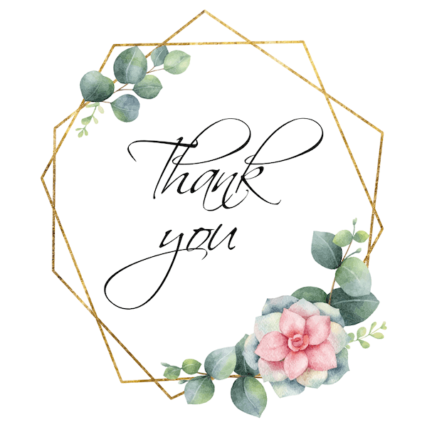 printable thank you cards - Geometric wreath